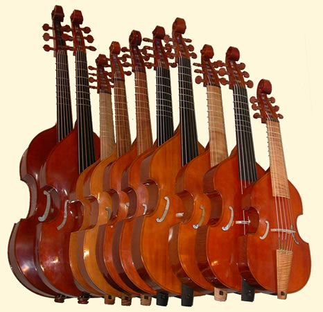 Viola da Gamba: I play these things - treble, tenor, and bass. I own a treble and bass.