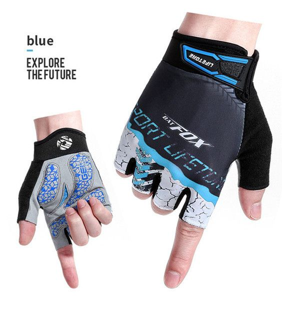 BATFOX Sports Men Women Half Finger Short Bicycle Gloves Mountain Bike Equipment Bicicleta Para Ciclismo Sports Cycling Gloves