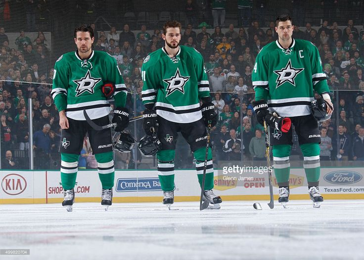 Patrick Sharp, Tyler Seguin and Jamie Benn