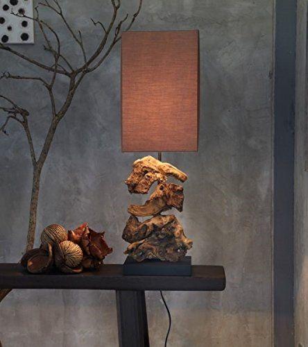 Designlampe aus Treibholz. #dark #beauty