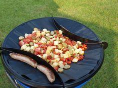 Een heerlijke voedzame maaltijd koken op de camping? Maak dan eens een hongaars potje op de skottel of in de wok. Lekker en makkelijk koken op vakantie.