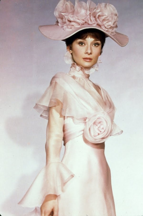 My Fair Lady...one of the most beautiful dresses ever made...Audrey Hepburn as Eliza Dolittle - Cockney street urchin makes good - 1964 film