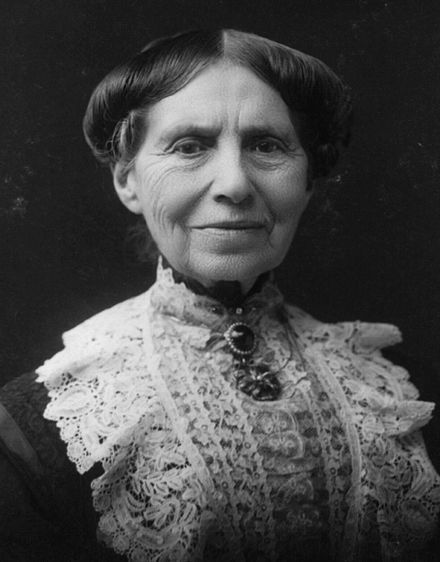 "Clarissa Harlowe ""Clara"" Barton (1821-1912), was a pioneer nurse who founded the American Red Cross. She also worked as a teacher, patent clerk, and humanitarian. At a time when relatively few women worked outside the home, Barton built a career helping others. She was never married but had a relationship with John J. Elwell. During the end of the American Civil War, Barton worked at a hospital she made helping the people at the Anderson prison camp where at least 13,000 people died."