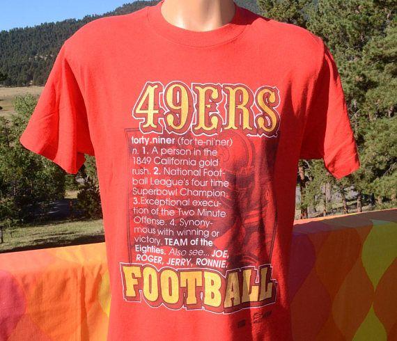 vintage t-shirt san francisco 49ers nfl football team of 80s