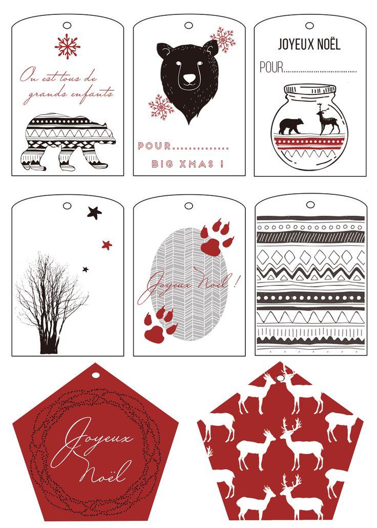 Des étiquettes de Noël pour homme...grhhh ! free printable: