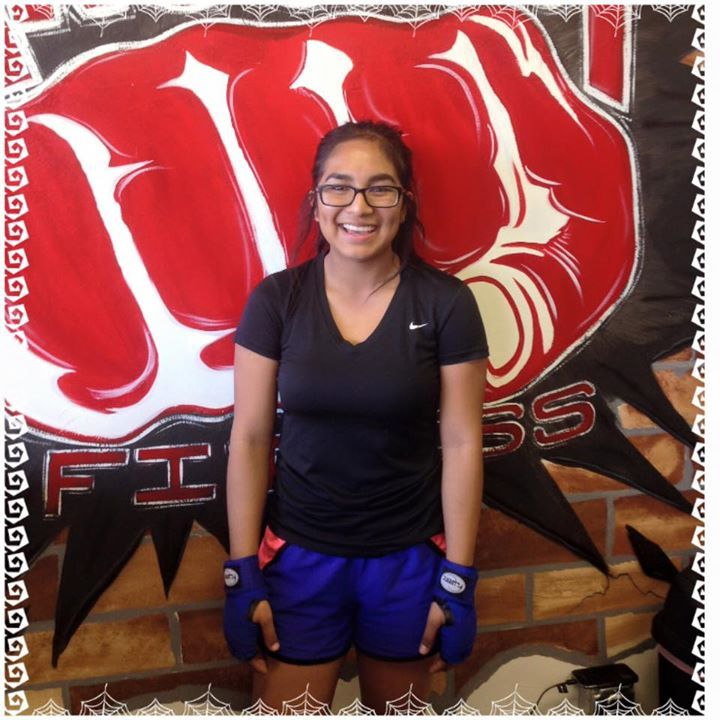 Paradise Valley member of the week is Izzy Perez. She and her mom have been a part of the Knockout family since February. She is a senior at Paradise Valley High School and she always finds a way to come in to the gym at least 3-5 days a week. Her favorite instructor is Tim because he does not let her give up in the the class and she feels so much better after her workout.