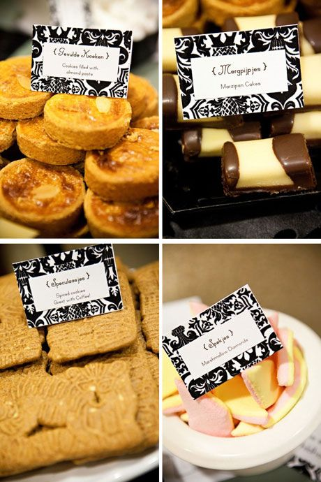 Wedding Sweets & Chocolates: traditional dutch cookies & mushmellows!