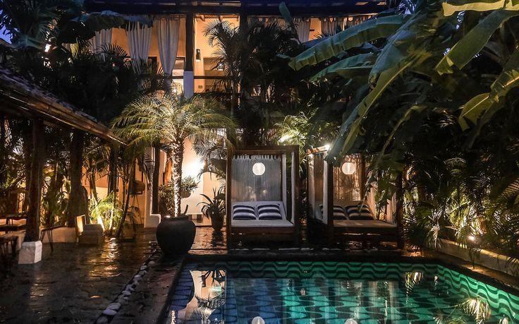 tribal hotel courtyard