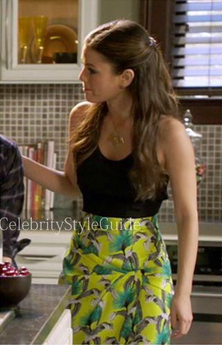 Hart of Dixie Fashion: Rachel Bilson as Zoe Hart wore a Proenza Schouler Floral Skirt Dress on Hart of Dixie epi 2.16 'Where I Lead Me' #CelebrityStyleGuide