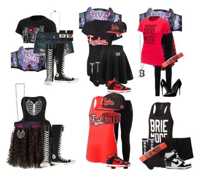 """""""WWE Diva Inspired Outfits"""" by queen-brie-bella ❤ liked on Polyvore featuring rag & bone/JEAN, AG Adriano Goldschmied, Converse, NIKE, Dolce&Gabbana, Alice + Olivia and Loyd/Ford"""