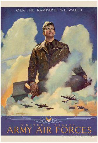 O'er the Ramparts Wa Watch United States Army Air Forces WWII War Propaganda Art…