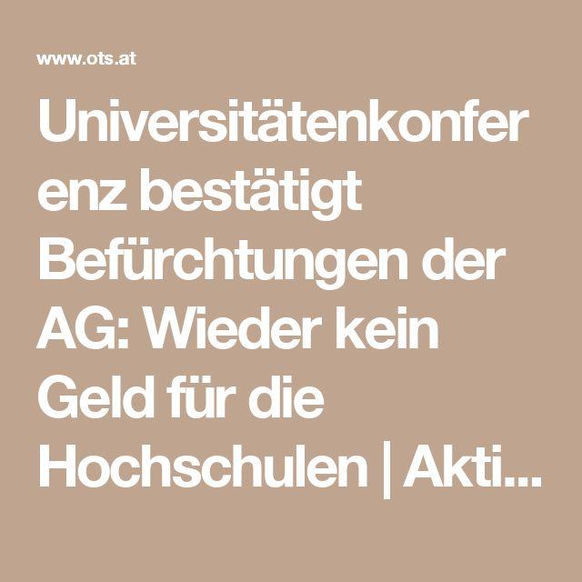 Universitätenkonferenz bestätigt Befürchtungen der AG: Wieder kein Geld für die Hochschulen   AktionsGemeinschaft, 29.04.2016