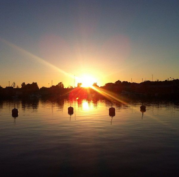 sunset, hanko, hangö, finland