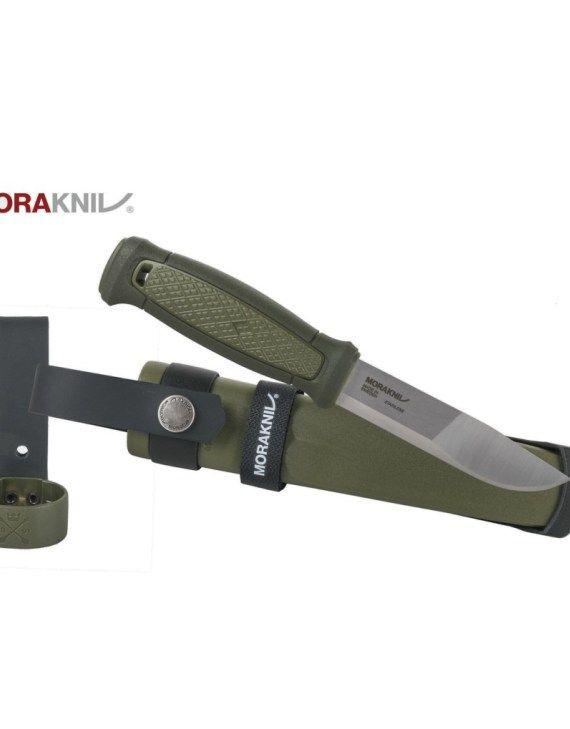 Mora Kansbol outdoor stainless steel knife olive green multi mount