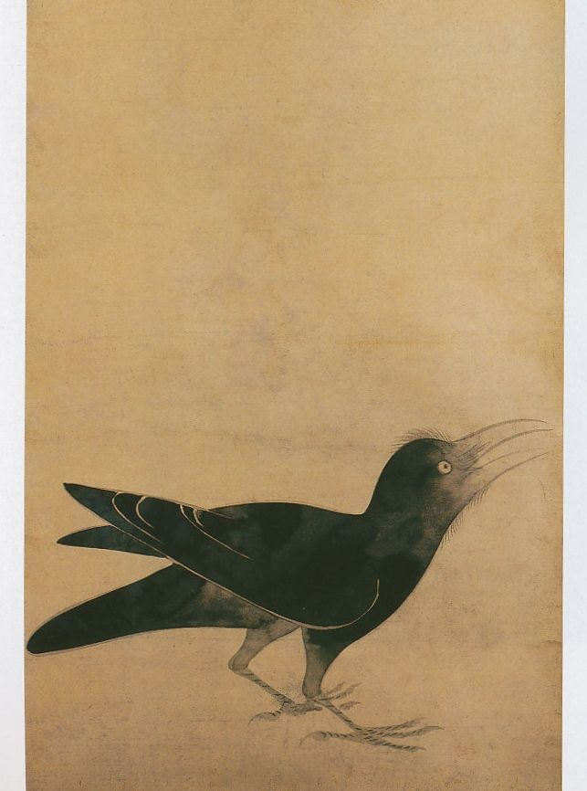 俵屋宗達 「烏図」crow. Tawaraya Sotatsu