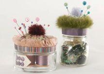 cupcake sewing jars
