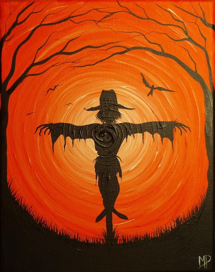 Best 25 scarecrow painting ideas on pinterest for Fall paintings easy