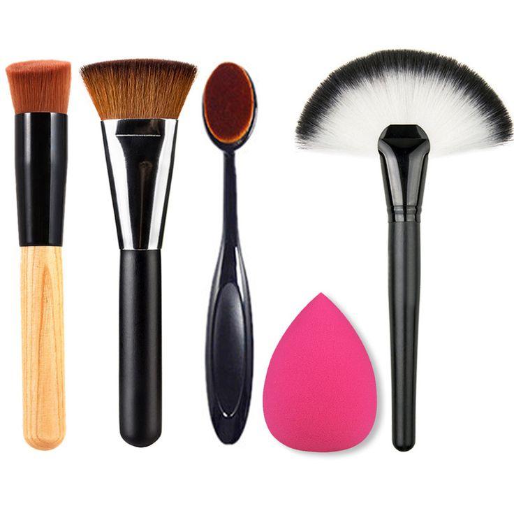 Professionale Make Up Kit di Strumenti di Capelli Sintetici Powder Blush Spazzola di Trucco Soffio Spazzolino Ovale Tecniche Pennelli Trucco Set