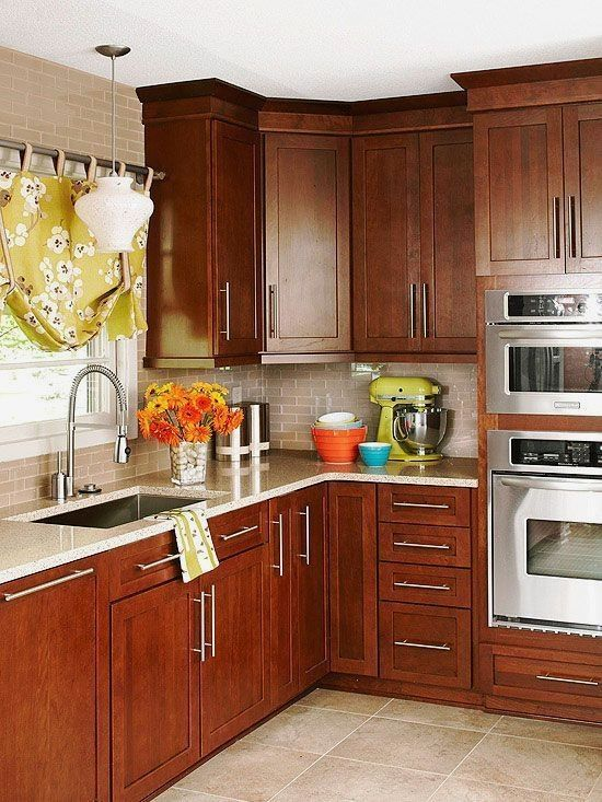 Best 21 Best Kitchens Light Countertop And Cherry Cabinets 400 x 300