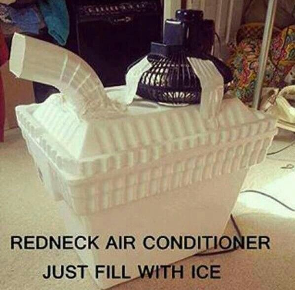 Redneck Air Conditioner    Funny, but for real could be useful for camping