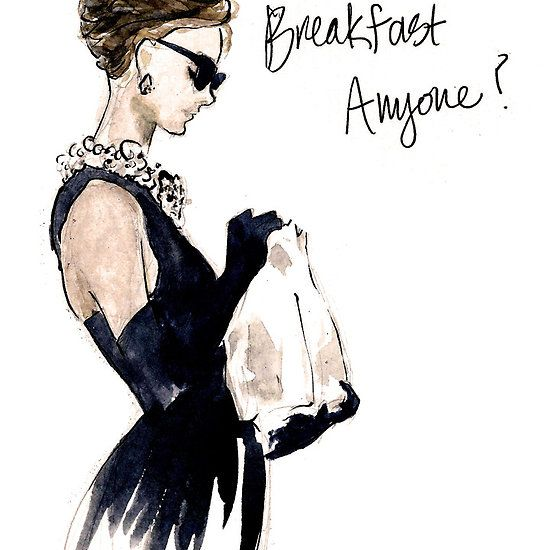 'Audrey Hepburn Breakfast, Anyone?' iPhone Case by rishann