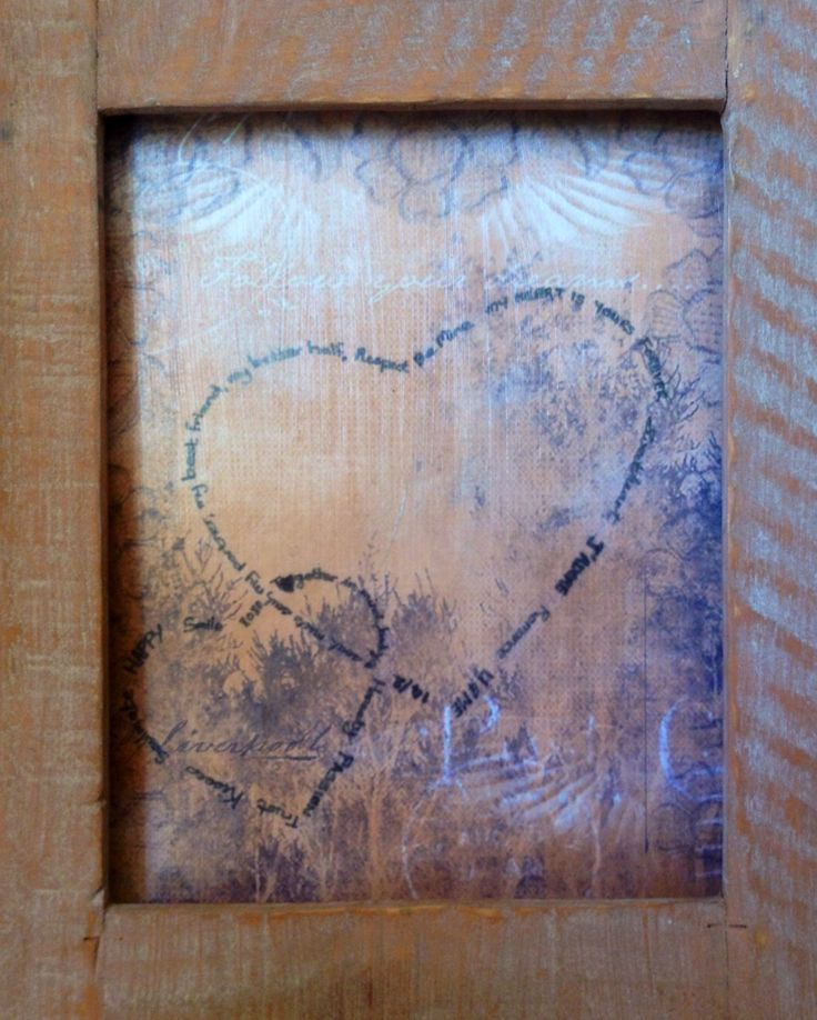 Love Heart by Shirl, Decoupage