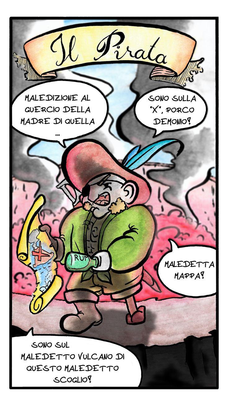 Giulio bottega, fumetto Il Pirata pagina 1