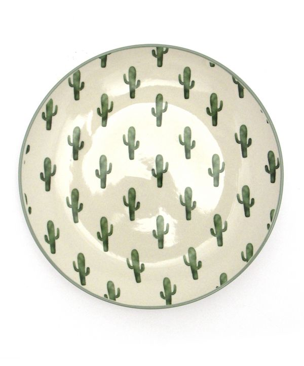 Bloomingville Cactus Dinnerware Set by Maverick Fine Western Wear - COWGIRL Magazine