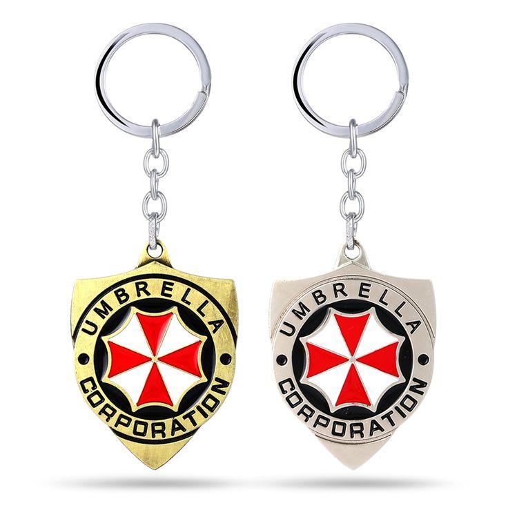 Resident Evil שרשרת מפתח טבעות מפתח מטרייה אדומה מתנה Chaveiro מחזיק תכשיטי Keychain רכב מפתח משחק מזכרות YS11237