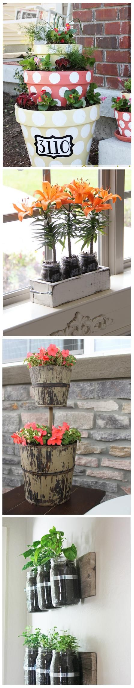 """""""4 Beautiful planter ideas 