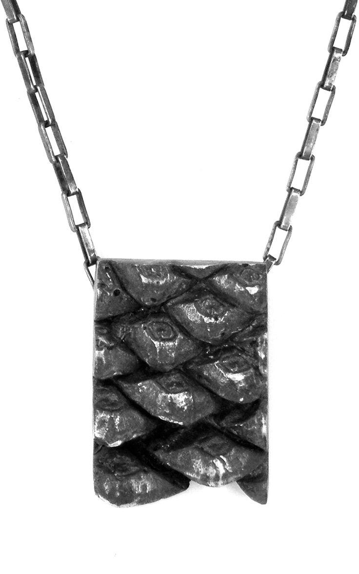 Pine cone oxidised necklace