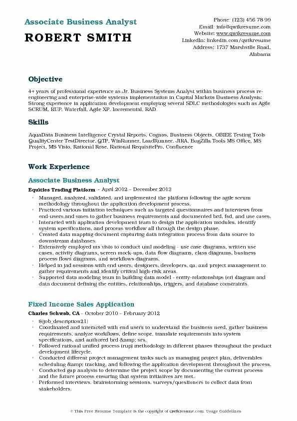 √ 29 Business Intelligence Analyst Resume | Cover Letter ...