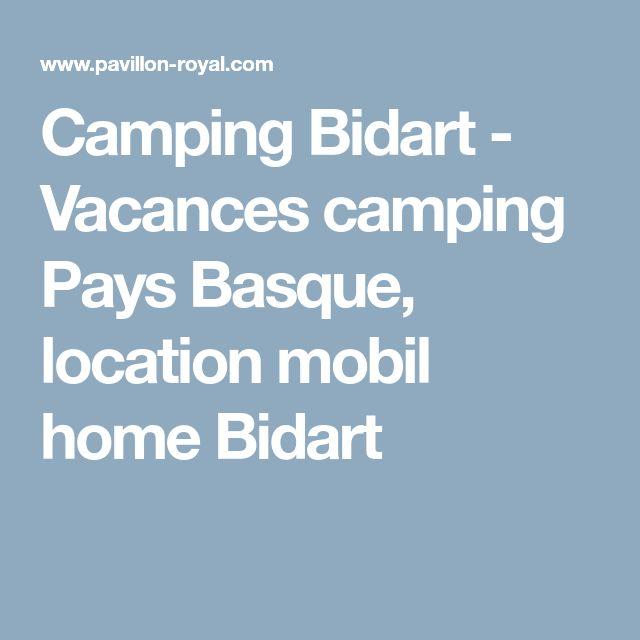 Camping Bidart - Vacances camping Pays Basque, location mobil home Bidart