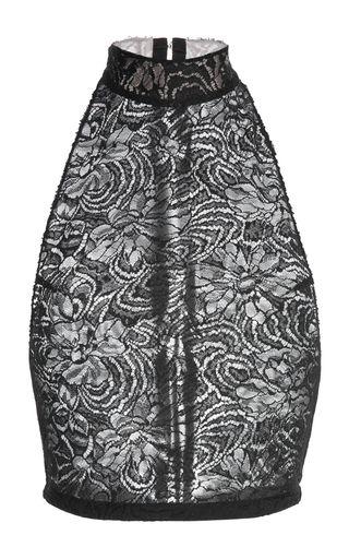 Medium proenza schouler black chantilly lace top