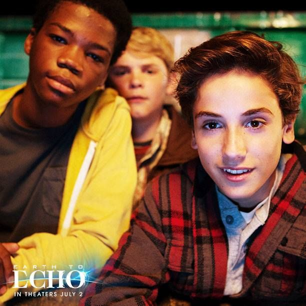 Teo Halm talks with my son about making #EarthtoEcho movie