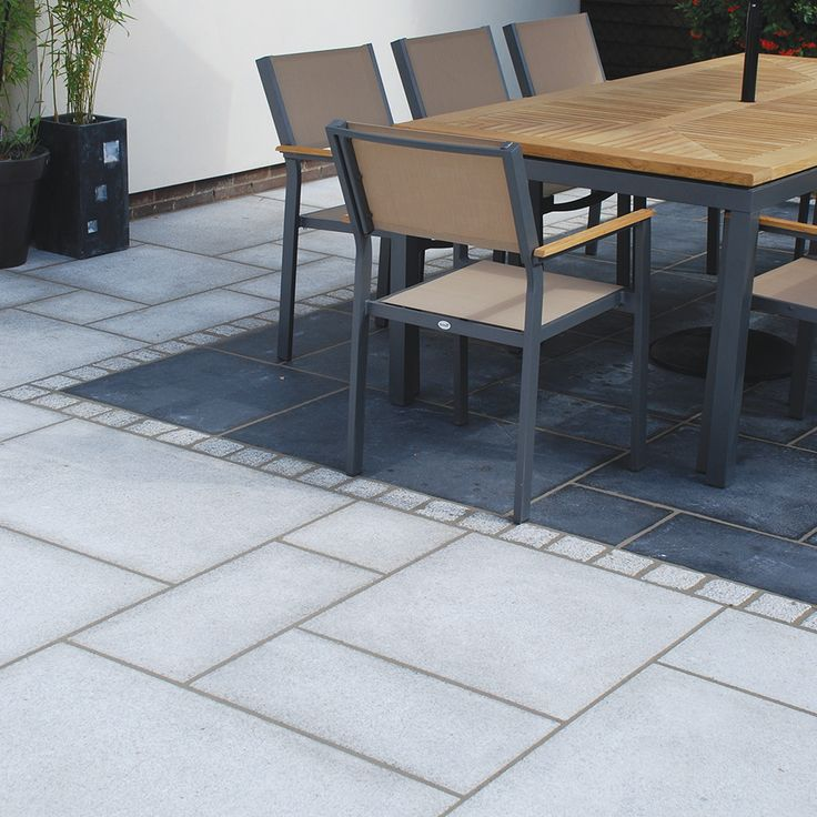 Global Stone Granite Paving In Silver Grey