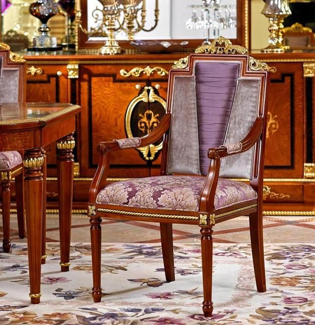 Source 0029 Italy Classic Style Functional Wooden Dining Room Set