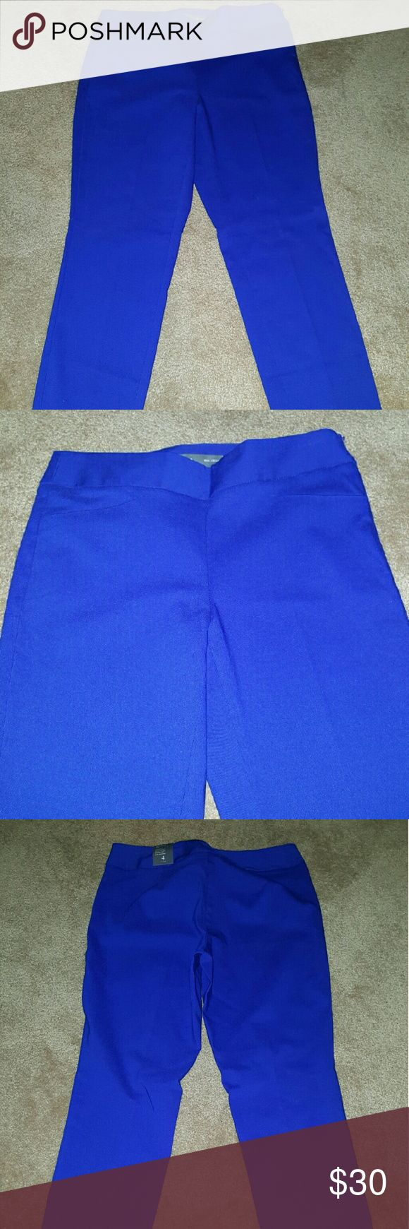 Royal Blue Limited Pants This item is from the brand The Limited.It is a size 4,new,never worn with tags.This item is from the ideal stretch collection. The Limited Pants Ankle & Cropped