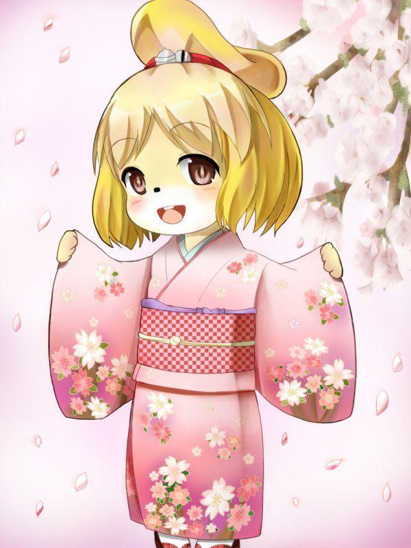 animal crossing new leaf qr code kimono | fanart Marie en kimono - Animal…