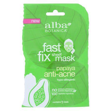 Alba Botanica Fast Fix Papaya Anti-Acne Sheet Mask, 1 Ct