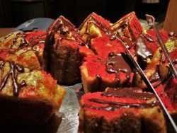Red Velvet Cake in Kingfisher Restaurant at Sleeping Lady Resort Leavenworth WA 2