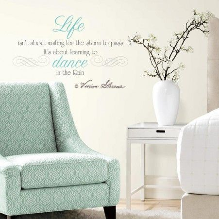 Dance In the Rain Quote Wall Decals