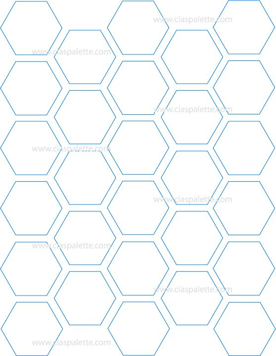 Keeps the spacing between tiels but gives full coverage for Hexagon templates for quilting free
