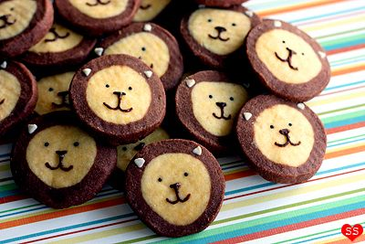 animalescomida lion icebox cookies - really easy and really cute.