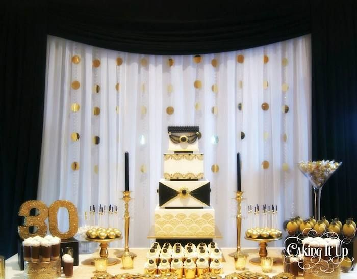 Great Gatsby themed birthday party with SO MANY CUTE IDEAS via Kara's Party Ideas KarasPartyIdeas.com Printables, favors, cakes, cupcakes, recipes, and more! #thegreatgatsby #partyplanning #partyideas (5)