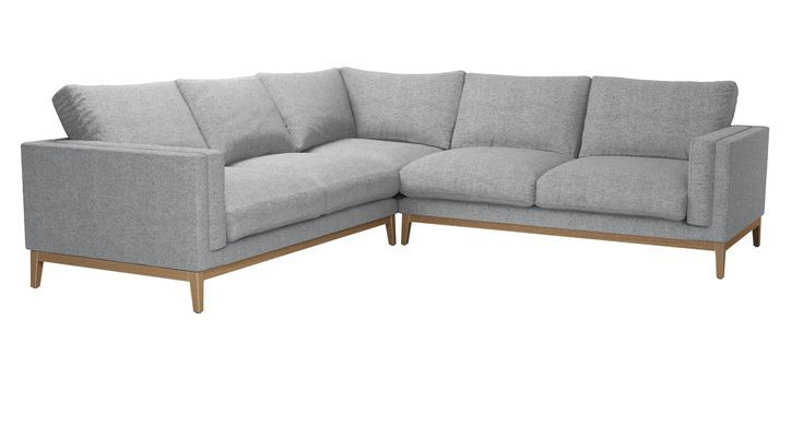 Costello Plinth Large Corner Sofa In Ash Soft Wool With Images Corner Sofa Sofa Furniture