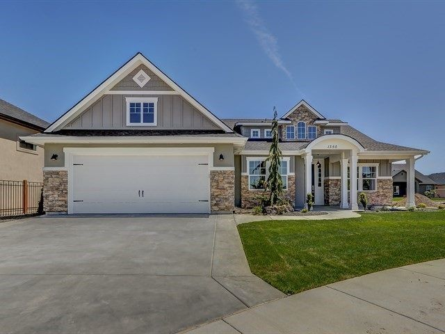 For Sale: 1350 N Lake Placid Avenue is a $425,000, 2,370 square foot, 4 bedroom, 2.5 bath home on a 0.19 acre lot located in Eagle, ID. STYLISH BRAND NEW HARBOR HOMES BUILT HOME! Up-to-date design and upgrades like frost maple floors, tile, quartz, and interior transom windows. Great Room has a beam and shiplap ceiling and a beautiful brick fireplace. Kitchen has white cabinetry, granite center island with a farm sink, SS appliances, double ovens, and walk-in pantry. Master Suite has a…