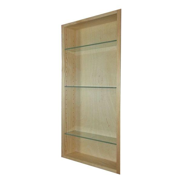 WG Products 30-Inch Recessed Craftsman Medicine Storage Cabinet