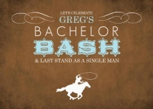 Bachelor Party invitations - Western Cowboy Bachelor Party Invitation