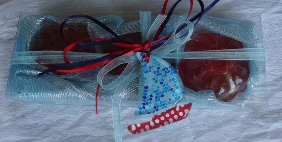 Nautical Style  Elegant Gift Set with by JoannasScentedSoaps